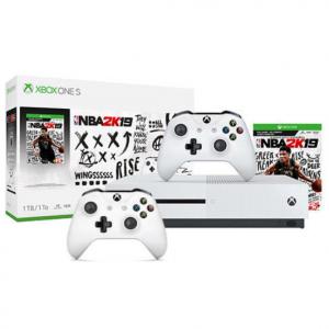 Xbox One S 1TB《2K19》套装 + 额外白色手柄 @ eBay