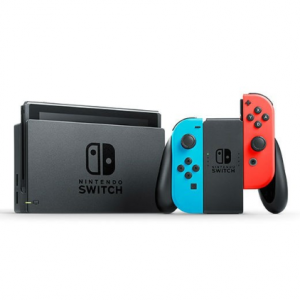 Nintendo Switch (Neon Blue and Neon Red Joy‑Con) with Generic Portable Protective Case (Black)