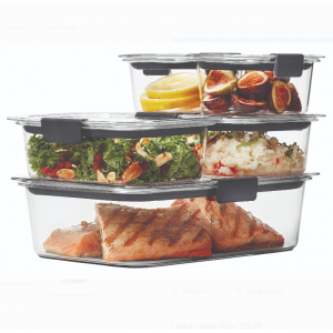 Rubbermaid Brilliance Leak-Proof Food Storage Containers with Airtight Lids, Set of 5, 10 Pieces