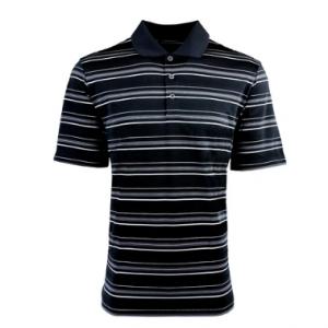 adidas Mens Puremotion Textured Stripe Polo Sale @Proozy