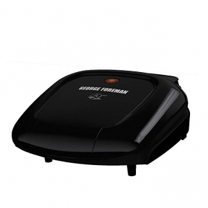 George Foreman GR0040B 2-Serving Classic Plate Grill, Black @Amazon