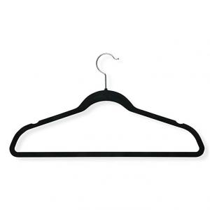 史低价:Honey-Can-Do 无痕防滑衣架50个 黑色 @Amazon