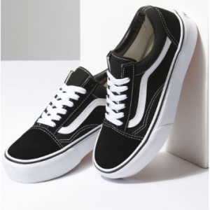 VANS Old Skool Platform Black & White Womens Shoes Sale @Tilly's