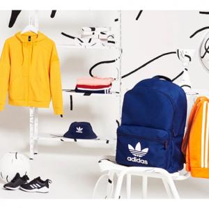 adidas 英国官网返校季大促,精选男女儿童鞋子、夹克、双肩包等特卖