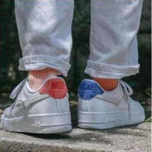 Office Shoes官网Nike 耐克 Air Force 1 07 空军1号 橙蓝配色鸳鸯鞋优惠