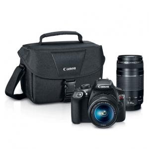 立减$300,佳能 Canon DSLR EOS T6 单反相机套装,带2个镜头 (18-55mm 和 75-300mm )