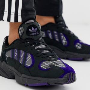 ASOS Asia官网 ADIDAS阿迪达斯ORIGINALS Yung 1男士黑色运动鞋热卖