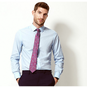 Cotton Blend Slim Fit Shirt For £5 @Marks & Spencer