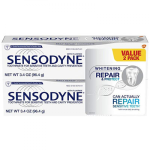 Sensodyne Repair & Protect Whitening Toothpaste 3.4oz (Pack of 2) @ Amazon.com