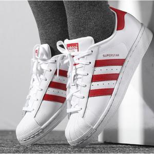 eBay US官网 Adidas阿迪达斯Superstar大童款红白贝壳头潮鞋热卖