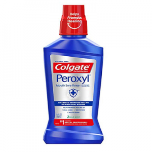 Colgate Peroxyl Mouth Sore Rinse, Mild Mint, 8.4 Fl Oz @ Amazon.com