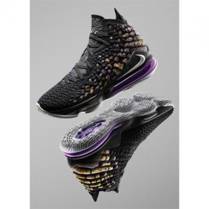 LeBron 17 Basketball Shoe Black/Eggplant/Amarillo/White @Nike.com