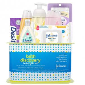 Johnson's Bath Discovery Baby Gift Set, 7 Items @ Amazon