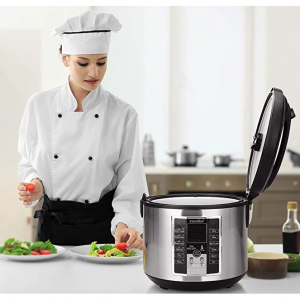 COMFEE' 5.2Qt Rice Cooker, Slow Cooker, Steamer, Stewpot, Sauté All in One @Amazon
