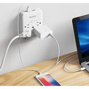Huntkey SMD607A  6口防浪涌插座 带2个USB接口 @Amazon