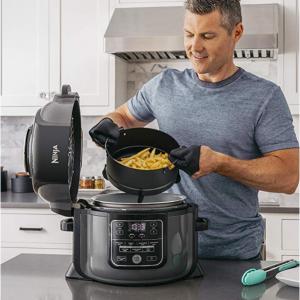 Ninja OP301 Pressure Cooker, Steamer & Air Fryer, 6.5-Quart, Black/Gray @Amazon
