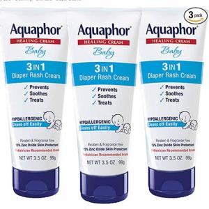 Aquaphor Baby 3 in 1 Diaper Rash Cream,3.5 oz. Tube (Pack of 3) @ Amazon