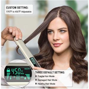 SeiShio 1英寸 3D钛钣放烫手直发器 快速加热温度可调节 @Amazon