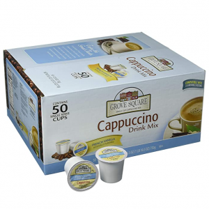 Grove Square Cappuccino, French Vanilla, 50 Single Serve Cups @ Amazon