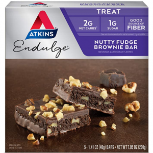 Atkins Endulge Treat Nutty Fudge Brownie Bar (5 Bars) @ Amazon