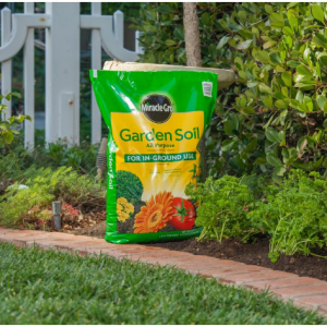 Miracle-Gro Garden Soil All Purpose for In-Ground Use, 0.75 cu. ft. @ Home Depot