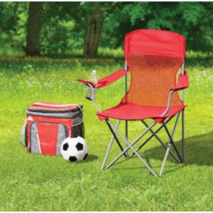Ozark Trail 折叠便携椅子,带装杯子的口袋 @ Walmart