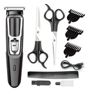 YIER 理发工具10件套 含2个剪刀与电动理发器 @ Amazon
