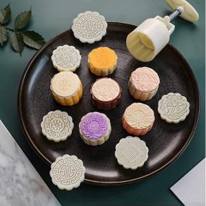 LEAWER 月饼糕点模具 含10种印花图案 @ Amazon