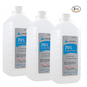 Swan Isoprophyl Alcohol, 70% 16 oz (Pack of 3) @ Amazon