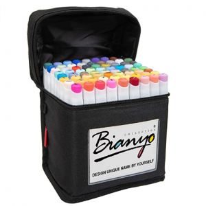 Bianyo Classic Series Alcohol-Based Dual Tip Art Markers(Set of 72,Travel Case)@ Amazon