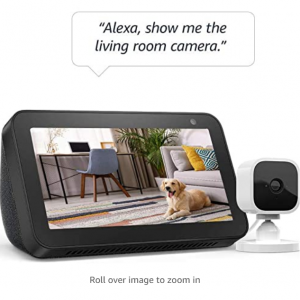 Amazon -  Echo Show 5 智能家庭助手 + Blink Mini 室內監控安防攝像頭,直降$44.99