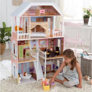 KidKraft 儿童4层娃娃屋,带14件家具配件 @ Walmart