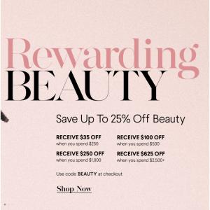 Beauty Sale (La Mer, La Prairie, CPB, SK-II, YSL, Tom Ford, Estee Lauder, Dior) @ Bergdorf Goodman
