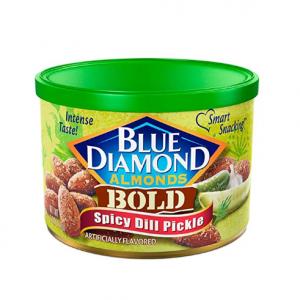 Blue Diamond Almonds 酸黃瓜辣味辣杏仁 6oz  @ Amazon