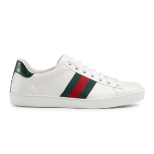 Gucci Ace Leather Sneakers @ FARFETCH