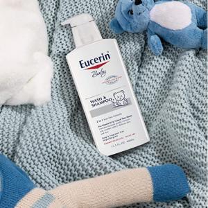 Eucerin Baby Wash & Shampoo 2 in 1 Tear Free Formula,13.5 fl. oz. Pump Bottle (Pack of 3) @ Amazon