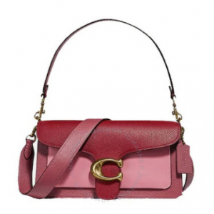 COACH Deep Red Tabby Shoulder Bag 26 In Colorblock $268.99 shipped