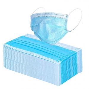 Wecolor 100 Pcs Disposable 3 Ply Earloop Face Masks (Blue) @ Amazon