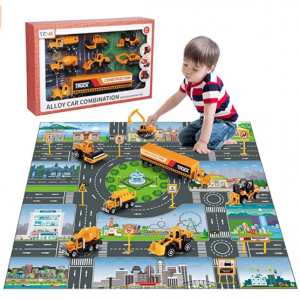 TEMI兒童車輛玩具套裝+遊戲墊 @ Amazon