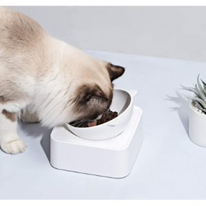 UPSKY Peto Cat Dog Bowl Raised Cat Food Water Bowl @ Amazon