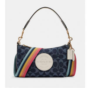60% off Dempsey Shoulder Bag In Signature Jacquard With Patch @ Coach Outlet