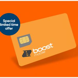 Boost Mobile - 无限套餐,限时前三个月流量翻倍+开卡费特惠