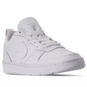 Macy's官網 Nike Court Borough 大童款低幫純白板鞋熱賣