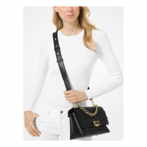 55% off Michael Kors Cece Medium Woven Leather Shoulder Bag @ Michael Kors