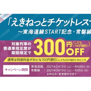 東海道線・常磐線記念、「えきねっとチケットレスサービス」キャンペーン