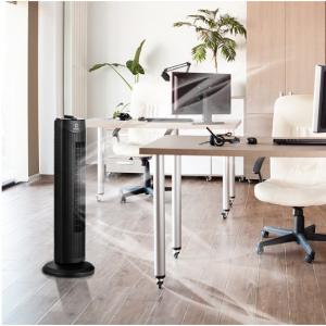 Fantask 35W 28'' Oscillating Tower Fan 3 Wind Speed Quiet Bladeless Cooling Room @ Walmart