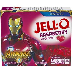 Jell-O 覆盆子口味布丁粉 6oz裝 @ Amazon
