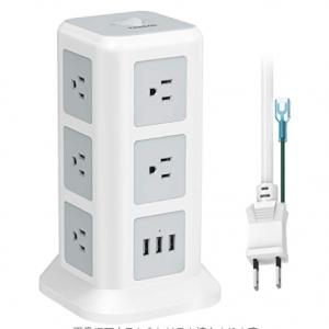 タワー型 電源タップ 延長コード 3m usb コンセント 3層 11個AC口+3USBポート