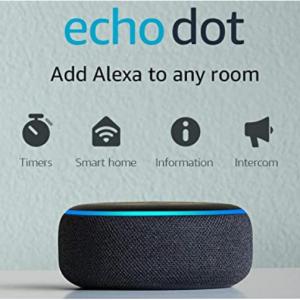 $5 off Echo Dot (3rd Gen) - Smart speaker with Alexa - Charcoal @Amazon