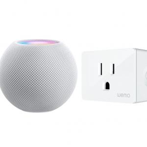 $14.99 off Package - Apple - HomePod mini - White and WeMo - Wemo WiFi Smart Plug @Best Buy